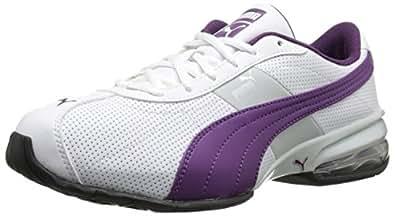 Women's PUMA Cell Turin Running Shoe,White/Gray Violet/Gloxinia,6 B US