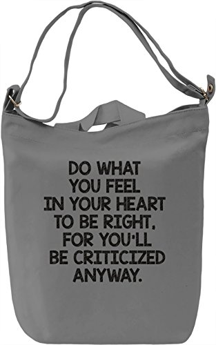 Criticized anyway Borsa Giornaliera Canvas Canvas Day Bag| 100% Premium Cotton Canvas| DTG Printing|