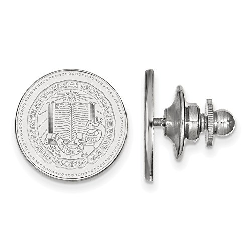 (Solid 925 Sterling Silver University of California Berkeley Crest Lapel Pin (15mm x 15mm))