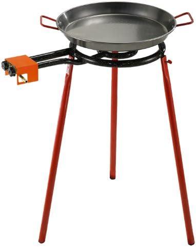 La ideal Paella pulida 42cm + Hornillo Mod. 350 + soporte 3 ...