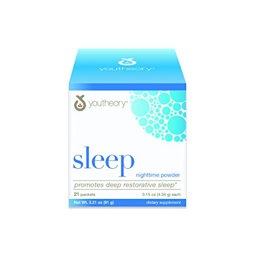 Youtheory Sleep Powder Packet with Magnesium 21ct (1 Carton)
