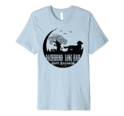 Mens DACHSHUND LONG-HAIR Dog Halloween Costume T-shirts 3XL Baby Blue