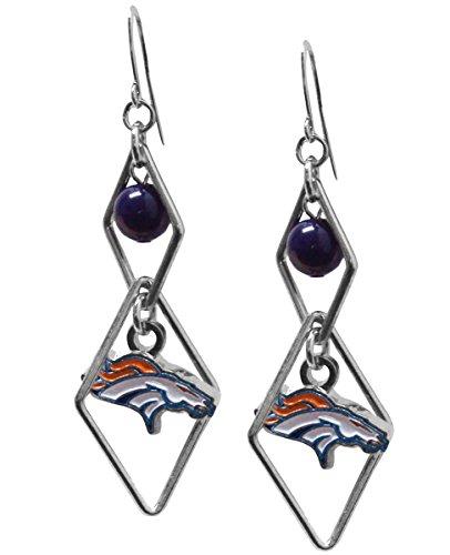 NFL Denver Broncos Triangle Logo Dangler Earrings