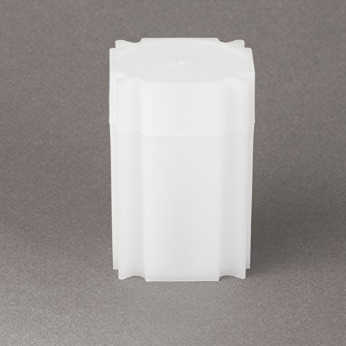 (5) Coinsafe Brand Square White Plastic (Large Dollar) Size Coin Storage Tube Holders Model: Office Supply Product Store