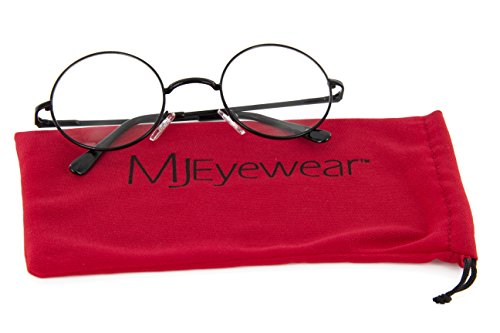 Lennon Style Circle Round Glasses Metal Frame Harry Porter, 46mm (Black, - Metal Eyewear