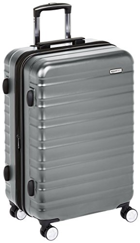 AmazonBasics Premium Hardside Spinner Luggage with Built-In TSA Lock - 26-Inch, Grey