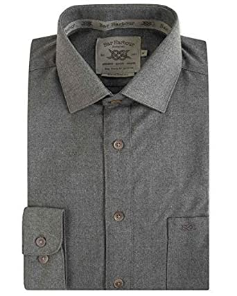 ca3fc4c2d9309c Bar Harbour Premium Baumwolle Warmen Griff Lässig Elegant Hemd (0261):  Amazon.de: Bekleidung