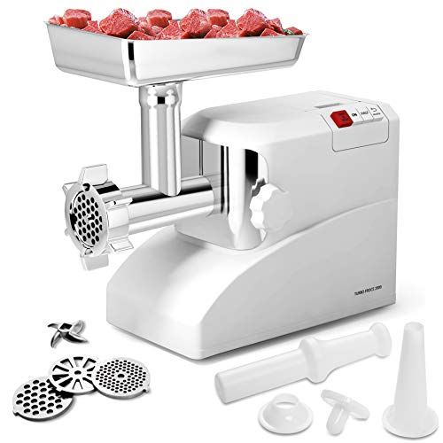 Giantex 2000 Watt Meat Grinder Electric 2.6 Hp Home Industrial Meat Grinder Sausage Maker Stuffer 3 Speed W/3 Stainless Steel Grinding Blades, Cutting Blades and Sausage Tubes ()