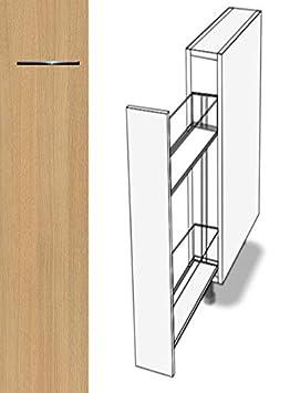 Breite 18cm, 01 Concrete dunkelgrau Premium-Ambiente ASE070 Unterschrank Apothekerschrank Vollauszug Softclosing FE