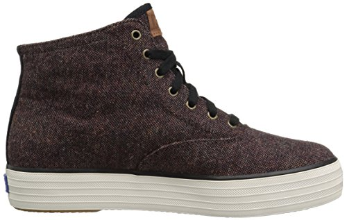 Sneaker Burgundy Keds Donna Triplo Hi Tweed Moda