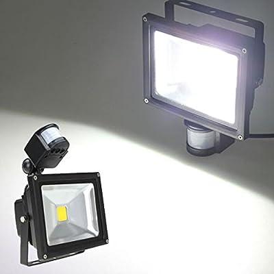 20W White 1550LM PIR Sensor Detector Security LED Flood Light 85-265V