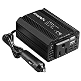 SUAOKI 150W Car Power Inverter DC 12V to 110V AC Converter with 5V/2.1A Dual USB Car Adapter for Laptops, Tablets and Smartphones