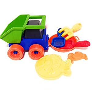 Outdoors 7 Piece Sand Dirt Snow Plastic Digging Toys Made In USA