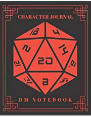 Character Journal DM Notebook: DnD Notebook With 50 Character Sheets and 100 Mixed Pages (Lined, Graph, Hex & Blank)For Role Playing Fantasy Games Campaign Adventure Planner To Create RPG Terrain Maps & Characters, Track 5e Gameplay, Plans, Spells & More