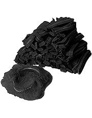 Perfeclan 100x Disposable Niet-geweven Hoeden Keuken Haarsalon Industrial Factory, Wegwerp Niet-geweven GLB Stofdichte Hoeden, Hoofdbedekking Industrieel