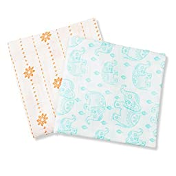 YOBO Unisex, Multipurpose Swaddle Blanket, Set of 2, Design defined by culture