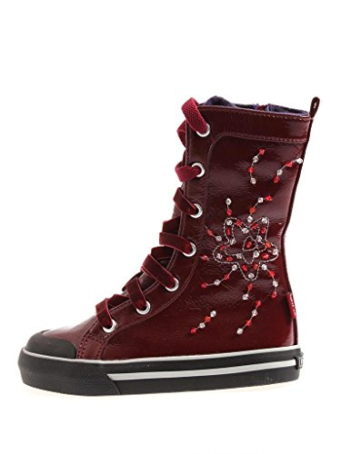 Primigi hohe Sneaker Schuhe Stiefel Lacklederoptik bordo leicht gefüttert EU 28