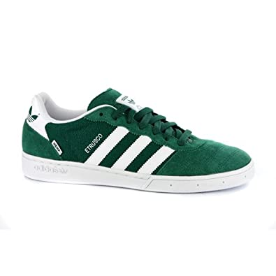 newest bd756 926d0 adidas New Mens Etrusco Green White Suede Retro Trainers UK 13