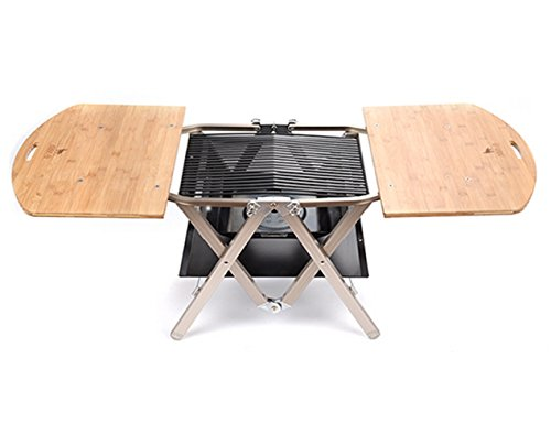 ABBA.Q Patented Practical All-in-one Grill, Charcoal Tray and Table, Small Size by ABBA.Q