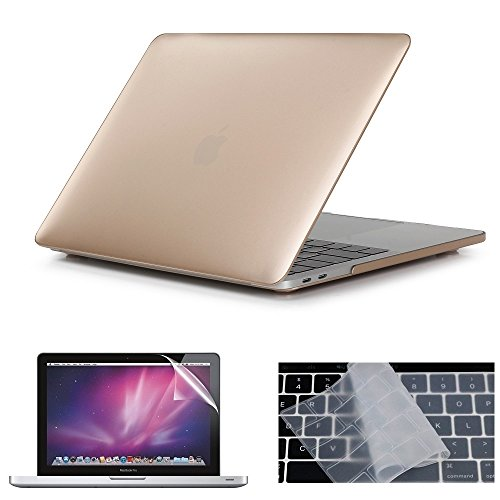 Matte Frost Hard Shell Cover + Keyboard Cover + Screen Protector for Macbook Pro 13