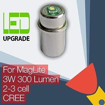 MagLite LED Conversión Actualizar Bombilla Para Linternas 2D/2C 3D/3C Celda CREE: Amazon.es: Deportes y aire libre