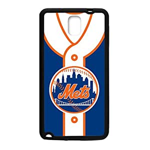 MLB New York Mets Black Phone Case for Samsung note3
