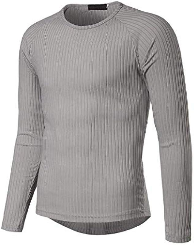 Męski sweter z okrągłymi rękawami wąski krÓj bluza elegancka odzież normalny lakier długi rękaw sweter z dzianiny: Odzież