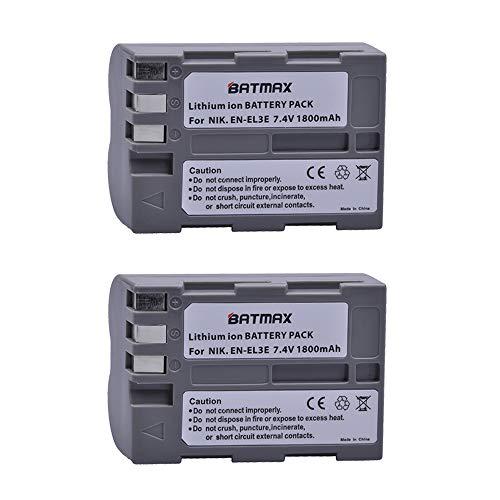 Batmax 2Pack High Capacity EN-EL3e Replacement Batteries for Nikon EN-EL3e and Nikon D50, D70, D70s, D80, D90, D100, D200, D300, D300S, D700 Camera Batteries (Battery For Nikon D70 Camera)