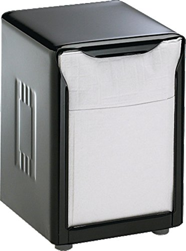 (San Jamar H985BK Table Top Low Napkin Dispenser, Black)