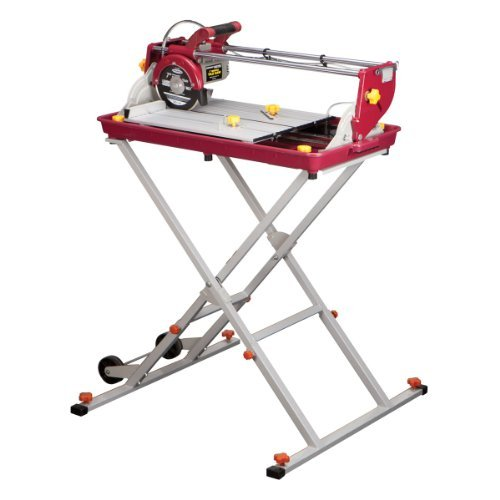 7 inch Bridge Tile Saw 1.5 HP with Miter Gauge and Splash Guard; Cuts masonry up to 20 in. long, 14 in. diagonal by Chicago Electric