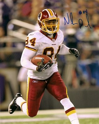 Autographe Niles Paul 8X10 photo Washington Redskins