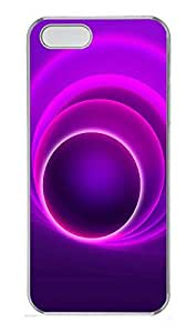 iPhone 5 5S Case patterns abstract round colors75 PC Custom iPhone 5 5S Case Cover Transparent