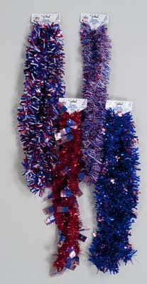 Patriotic Tinsel Garland Case Pack 48 by DDI