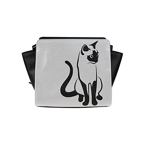 Meincare Women's Tender Cat Pu Leather Satchel Bag