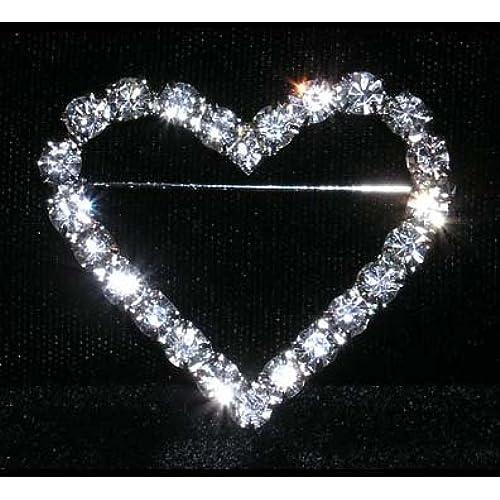 #14186 - Single Row Heart Pin