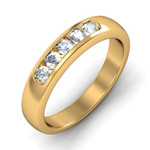 Or jaune 18K, 0,34CT TW Diamant Blanc (IJ | SI) en diamant