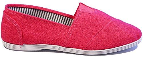 Walstar Toile Glisser Sur Les Chaussures Rose Vif