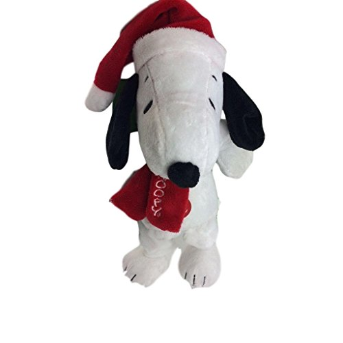 by Peanuts Snoopy Holiday Pet Toy, Dog Squeak Plush 12 Santa (Squeak Santa)