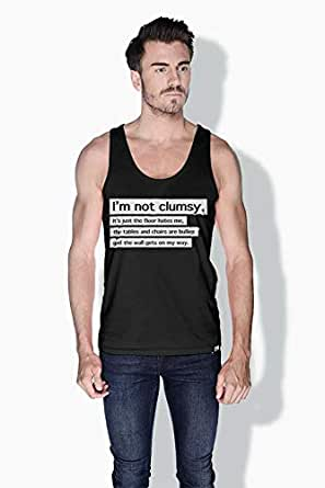 Creo Im Not Clumsy Funny Tanks Tops For Men - S, Black