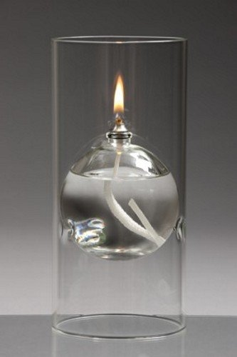 CLEARCRAFT FOR USE WITH SMOKELESS AND ODOURLESS LAMP OIL - GLASS OIL CANDLE (150 X 80)