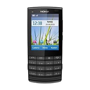 KPN Nokia X3-02 Prepaid Negro, Gris - Smartphone (Symbian OS, SIM única, EDGE, GPRS, GSM, HSDPA, HSUPA, WCDMA, Barra, Prepagado)