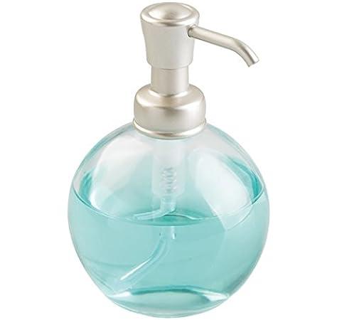 mDesign Dosificador de jabón redondo y recargable con 355 ml de ...