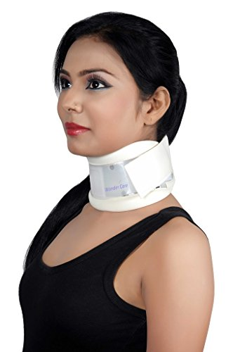 Wonder Care- Rigid Cervical Collar | Plastic Neck Support Brace Adjustable height Collar Neck Support Brace, Wraps Aligns & Stabilizes Vertebrae - Relieves Pain & Pressure in Spine- C103 - M by Wonder Care