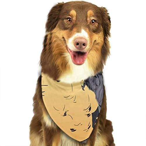 Pet Scarf Halloween Background with Wolf for Puppy Bandana Hot Bandana Triangle -