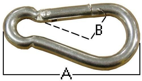Lexco Cable 2450S-3/16 Hook Snap 3/16 Stainless Steel (20 Pieces/Pack)