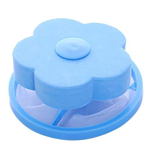 ZHUOHONG Lavadora Filtro-Flor Bolsa de Malla de algodón de Terciopelo Flotante Lavadora Depiladora Filtro Bola de Limpieza Bolsa de Malla