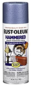 Rust-Oleum 7212830 Hammered Metal Finish Spray, Light Blue, 12-Ounce
