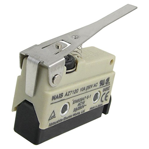 (uxcell AZ7120 Screw Terminals Long Hinge Lever Enclosed Basic Limit Switch)