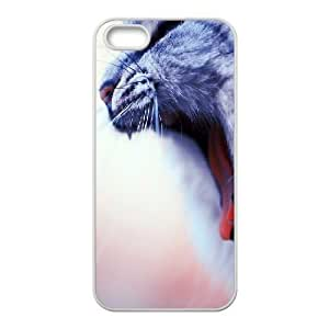 For SamSung Galaxy S6 Phone Case Cover Cat Yawn Hard Shell Back White For SamSung Galaxy S6 Phone Case Cover 342041