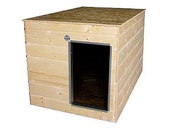 Caseta aislado especial Serie Medio, tejado plano, entrada en el lateral: Amazon.es: Productos para mascotas